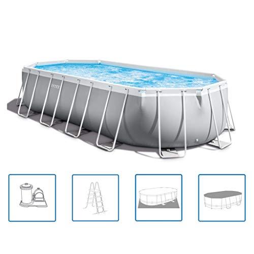 Intex Swimming Pool 610 x 305 x 122 cm Frame Pool Set Prism Oval 26798