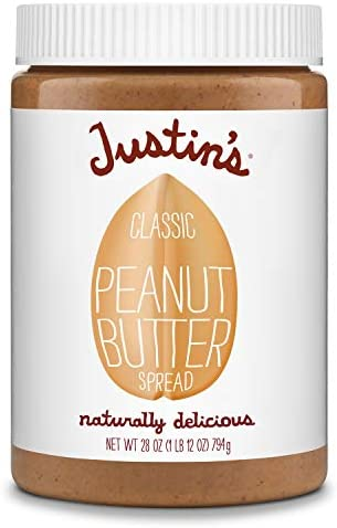 Justin s Classic Peanut Butter Only Two Ingredients No Stir Gluten free Non GMO Responsibly product image