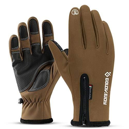 MYSdd Herren Outdoor Sport Skifahren Telefon Touchscreen Handschuhe rutschfest Wasserdicht...
