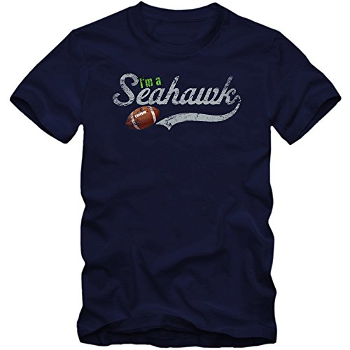 I'm a Seahawk T-Shirt #1 Herren Football Super Bowl USA American Sports XS-5XL, Farbe:Dunkelblau (French Navy L190);Größe:XL