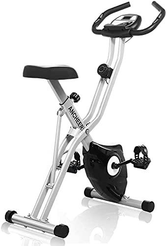 ANCHEER Bicicleta Estatica Bicicleta de Ejercicio Plegable de Interior Perfecto Máquina de Ejercicio en Casa para Cardio (Gris, X-Bike sin Respaldo)