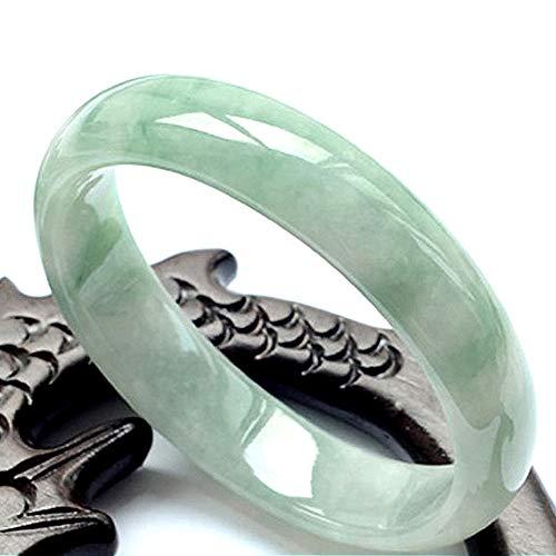 DWXN Mujeres Green Jade Bang Pulsera F Eng Suerte Suerte 53mm