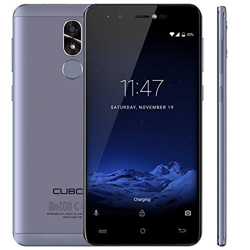 "CUBOT R9 (2017) - Smartphone Libre 3G Android 7.0, (Pantalla táctil 5.0"" HD, 2600mAh batería, 2GB Ram + 16GB ROM, Quad core, Dual SIM, Cámara 13Mp, 1.3 GHz), color azul[ CUBOT OFICIAL ]"