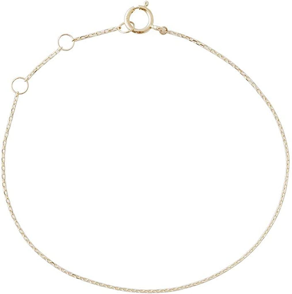 HONEYCAT Whisper Thin Chain Bracelet, Sold 14k Gold or Rose Gold