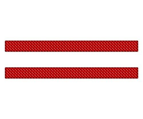AG Design A-CZ-069 sticker reflector rechthoek, 3D, afmeting 30 x 2,5 cm, set van 2, rood