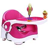 GZQDX Cena la Silla de bebé, Asiento del Recorrido del Elevador con Bandeja Plegable for bebé Trona portátil for Comer, Camping, Playa, césped (Color : Pink)