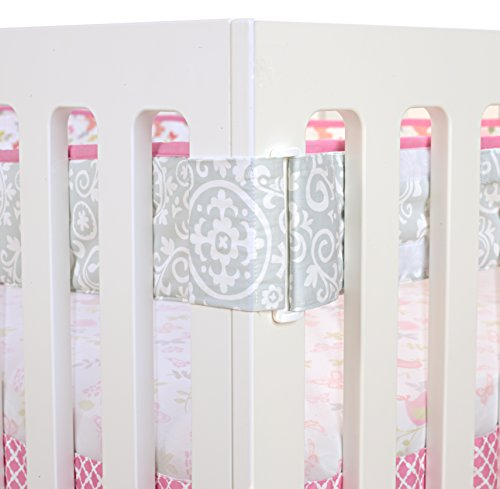 Just Born Botanica Fresh Air Crib Liner, Pink/Floral