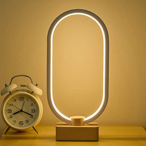 Lámpara de mesa, lámparas de escritorio, lámpara de mesita de noche inteligente Adoture, iluminación interior, regulable, portátil, cambio de color RGB para niños, dormitorio, camping, al aire libre