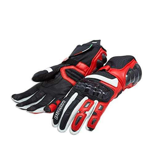 Ducati Performance C2 Handschuhe aus Leder rot/schwarz Größe 2XL