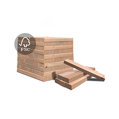 Anzündholz Premium - Anfeuerholz mit Kamin Anzünder - Besonderes Sauberes und Trockenes Anmachholz aus FSC-zertifiziertes unbehandeltes Birkenholz - Feuerholz oder natürliches Spiel für Ihre Kinder