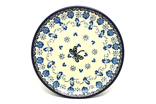 Polish Pottery Plate - Bread & Butter (6 1/4') - Dragonfly