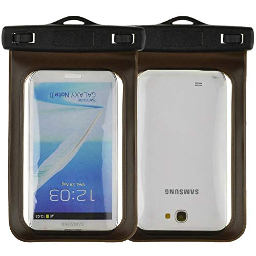 """Waterproof Case Smartphone Dry Pouch (Black) w/Neck Lanyard - Compatible w/iPhone XR/XS/XS Max/X/8+ Galaxy S10+/S9+ Note 9/8 Pixel 3 XL Phones up to 6.5"""" Great for Swim Pool Beach Bath Travel"""