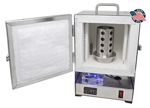 Tabletop Hi-Temp 2200 Degree Electric Burnout Oven Kiln Vent Hole Standard Controller Furnace Jewelry Making Dental Casting Wax 3D Resin PLA Burnout Made in The U.S.A.