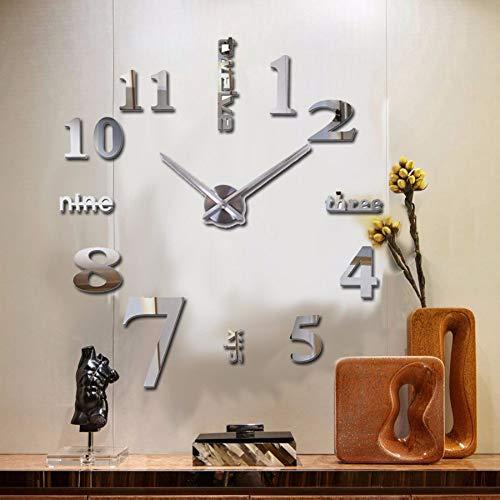 Pmhc Sale New Wall Clock Clocks Watch Sticker DIY 3D acryl Mirror Home Decoration Quarz Balcony/Courtyard Needle Europa Hot 37 inch