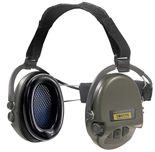 Sordin Supreme PRO X Neckband Aktiver Gehörschutz 76302-X - Elektronischer Gehörschützer SNR: 25dB Grün
