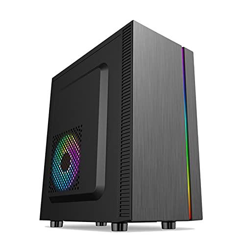 KDR Caja Torre ITX, Caja Computadora Gaming, Caja de Computadora RGB, Conducto de Aire Tridimensional, Refrigeración por Flujo de Aire