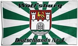 Fahne / Flagge Wolfsburg 2  gratis Sticker, Flaggenfritze