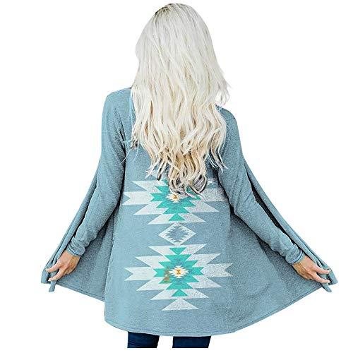 Your New Look - Cardigan da donna, stile tribale, casual, a maniche lunghe, stile etnico