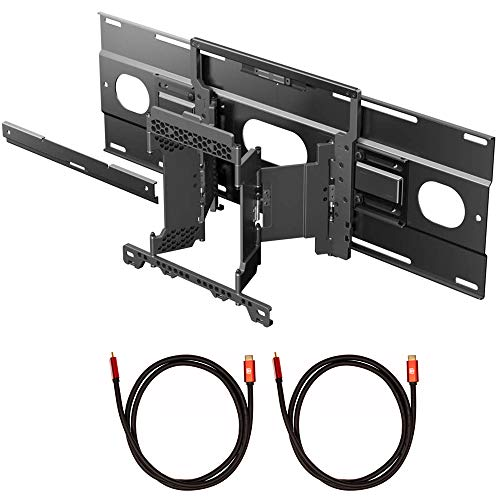 Sony SU-WL855 Ultra Slim Wall-Mount Bracket for A8G/A9G BRAVIA OLED Series TV Bundle with 2X Deco Gear 6FT Universal 4K HDMI 2.0 Cable with 28AWG Pure Copper Conductors