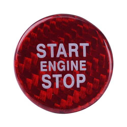 beler Bouton d'arrêt de démarrage du moteur Commutateur Commutateur Fibre de carbone