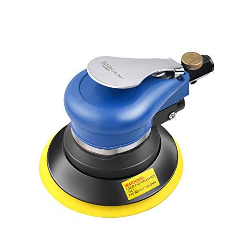 Autolock 5 Zoll pneumatische Exzenterschleifer-Poliermaschine,7Stück Schleifpapier,zum Polieren,Schleifen von Autos, Metallen und Holz