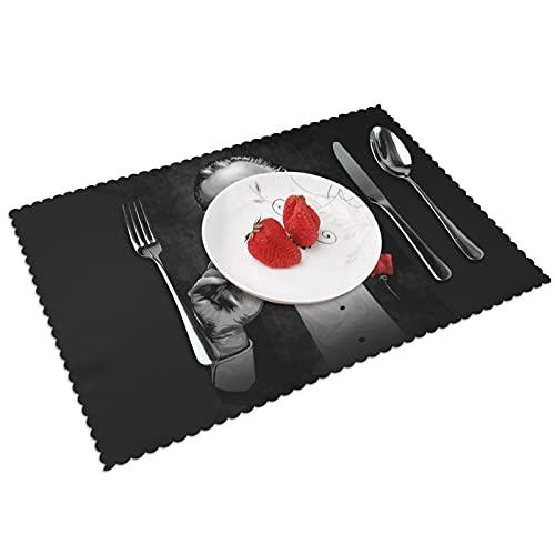 Godfather Vito Corleone Tischsets für Esstisch 4er Set rutschfest und hitzebeständig abwaschbar Teller Matte Tischmatte
