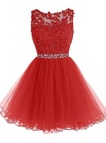 Vestido corto de tul para el hogar, vestidos, electrodomésticos, bailes, fiestas, Rojo, Modificado Para Requisitos Particulares