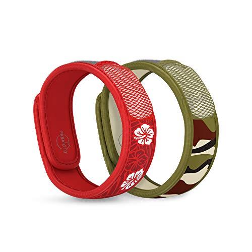 PARA'KITO Mosquito Repellent Bonus Pack - 2 Wristbands   2 Refills (Hawaii + Jungle)