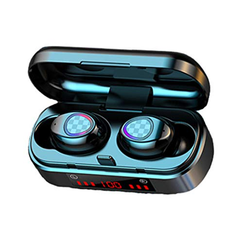 V7 Mini TWS Bluetooth 5.0 Wireless Rechargeable Earphone HiFi 9D Stereo Earbuds for Sport Home Music
