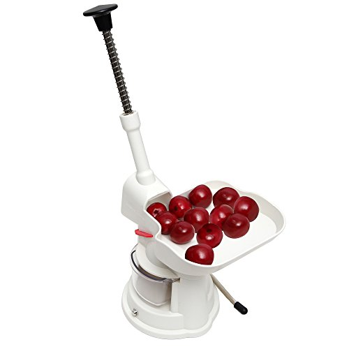 Roots & Branches Cherry Pitter, small, White