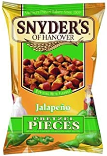 Snyder's of Hanover, Pretzel Pieces, Jalapeno, 12oz Bag (Pack of 3)