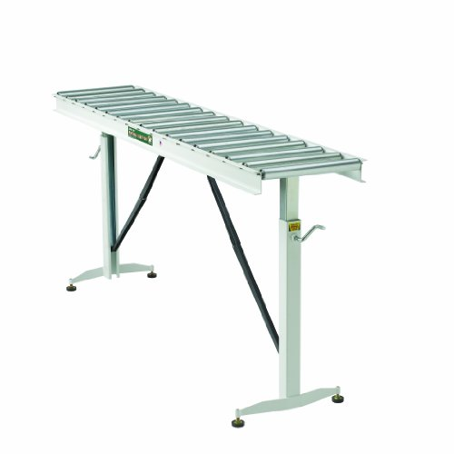 HTC HRT-70 Adjustable Folding Roller Conveyor Table 66-Inch length by 15-Inch wide 17-Ball Bearing Rollers