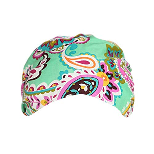 TENDYCOCO 2pcs Adjustable Surgical Cap Flamingo Pattern Cotton Scrub Hat Sweat Absorption Medical Doctor Nurse Beanie Working Cap for Adults
