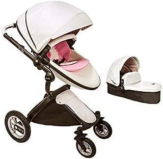 Baby Stroller 2019 Pram Stroller & Bassinet Stroller Combo KID1st Egg Stroller Vista Travel System for New Born to Toddler Cruz Baby Jogger for HOT MOM Umbrella xary Stroller Bee5 Geo(#01 White)