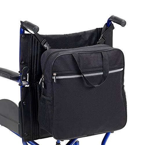 PINGJIA Rollstuhl Tasche Anti Scratch Oxford Rollstuhl Zubehör Taschen Tasche Große Kapazität mit sicheren reflektierenden Streifen Perfekt für jeden Walker und Rollstuhl