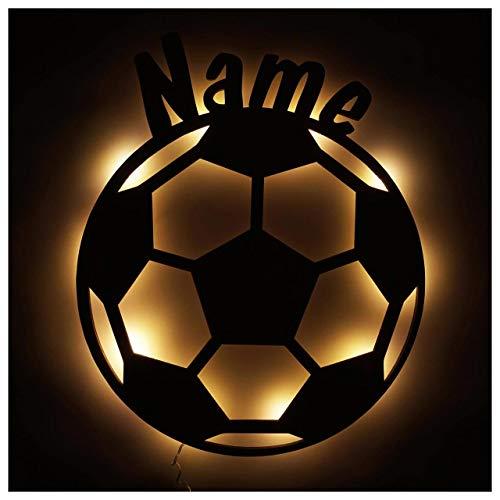 Fußball Geschenke für Jungs Männer Mädchen LED Lampe Nachtlicht mit Personalisierung 5 6 7 8 9 10 11 12 Jahre