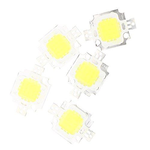 TOOGOO (R) 5pcs 800LM Bombilla LED Alta Potencia 10W en Blanco Lamp Bulb