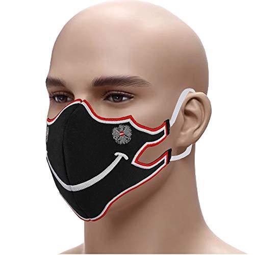 Designer Schutzmaske Austria Smile Edel gestickter Mundschutz Gesichtsmaske 60° waschbar