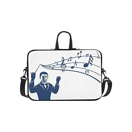 Laptop Bag Cute Chorus Commander Shoulder Bag Crossbody Bag Convenient for Men Women Students Boy Business Travelling Work Leisure