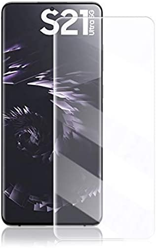 Dhavals shoppe UV Full Glue Edge To Edge Tempered Glass Screen Protector For Samsung Galaxy S21 Ultra