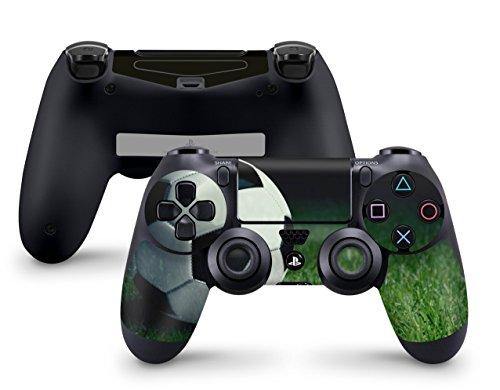 Skins4u Aufkleber Skin Designfolie Controller Schutzfolie kompatibel zu Sony Playstation 4 Controller PS4 Advantage Soccer Fussball