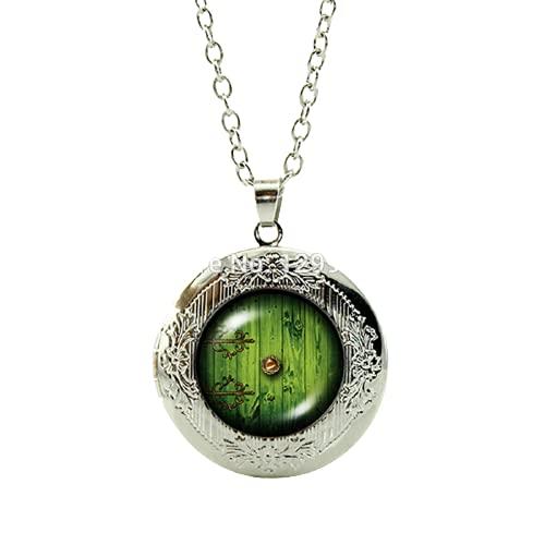 Caliente película verde medallón colgante collar frodo sam gandalf señor de la fantasía bilbo película joyería
