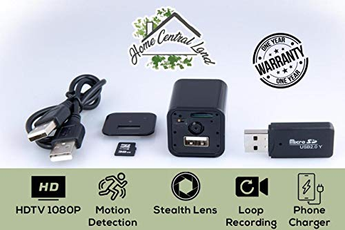 Hidden Camera | 32GB SD Card Included | Motion Detection | USB Hidden Camera | Surveillance Camera | Mini Spy Camera | Nanny Camera | Best Spy Camera Charger | Hidden Camera Charger