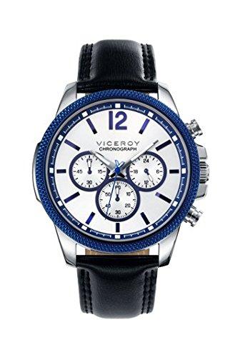 Viceroy Reloj Cronógrafo para Hombre de Cuarzo con Correa en Cuero 40507-05