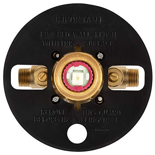 PULSE ShowerSpas 3001-RIV-PB-BN Tru-Temp Mixing Valve, Pressure Balance Rough-In Valve Trim Kit, Round, 1/2