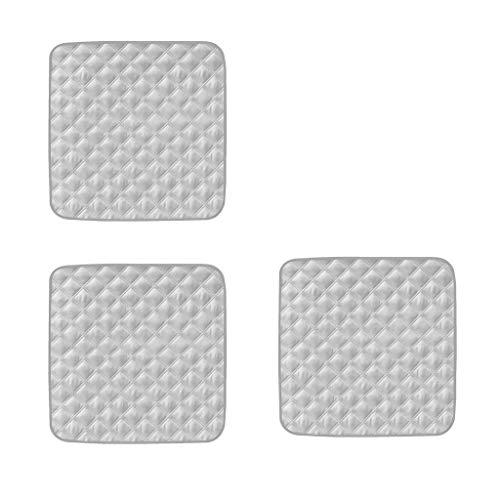 joyMerit 3Pcs Abnutzbarer Waschbarer Stuhl Schutz Auflage Für Inkontinenz Grau