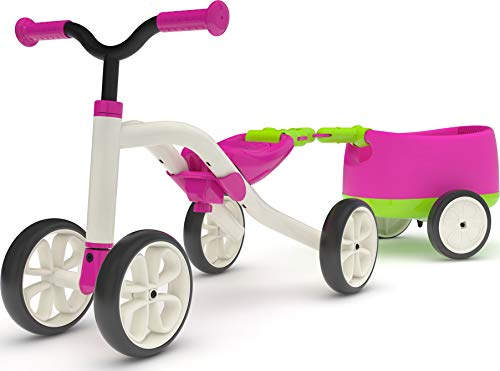 "Chillafish QUADIE + TRAILIE: 4-Wheeler ""Grow-with-Me"" Ride-On Quad and Trailer Combo, Pink"