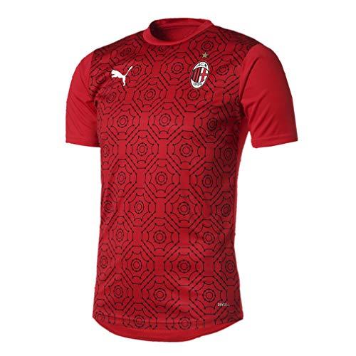 PUMA Herren AC Milan 20/21 Stadium Home Trikot, Tango Red Black, S