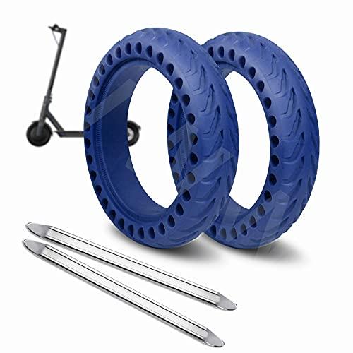 ANSENI Ruedas Macizas Azul para Patinete Electrico Rueda de 8.5 Pulgadas, Neumáticos de Reemplazo, Rueda de Repuesto Antipinchazo Compatible con Xiaomi Scooter Electrico M365/M365 Pro (Azul)