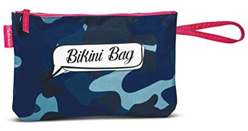 Fabrizio Bikini Bag (Blue Camouflage)